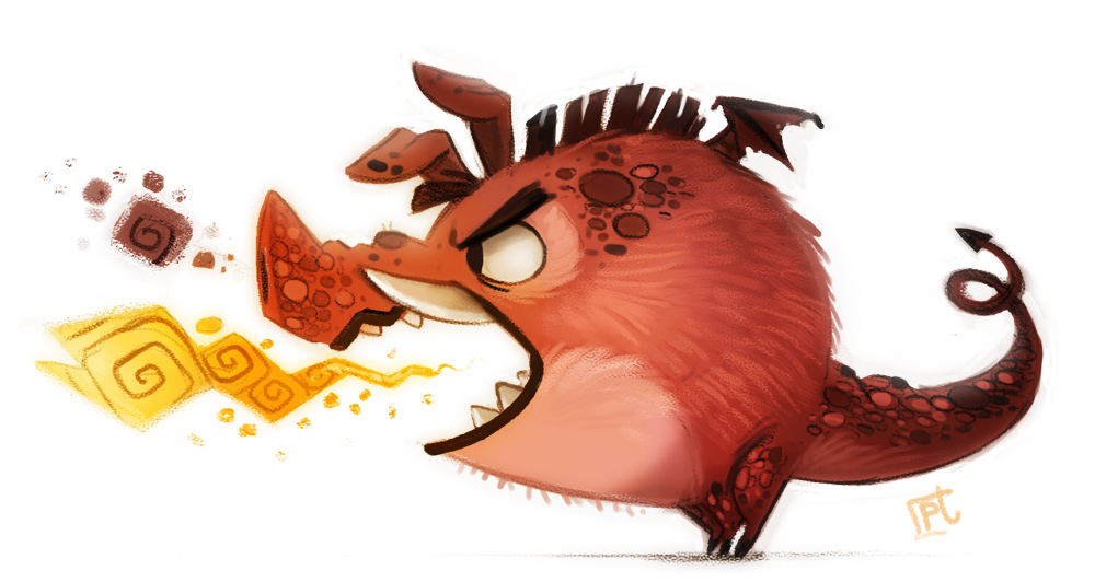 daily_painting__717___pig_dragon_by_cryptid_creations-d85jbjz